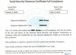 NASSCORP Clearance Certificate
