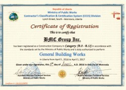 Ministry of Public Works Certificate 2016